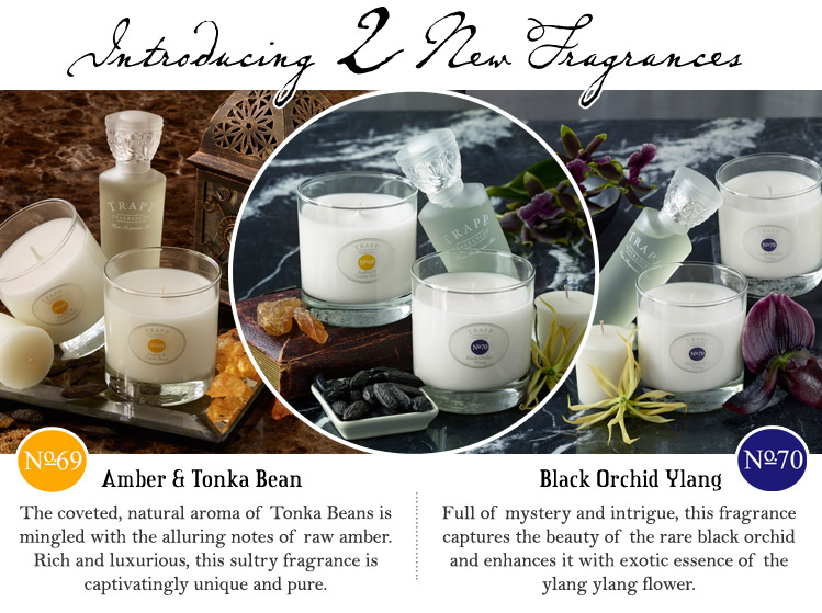 Introducing 2 New Fragrances, no.69 - Amber & Tonka Bean, no.70 - Black Orchid Ylang