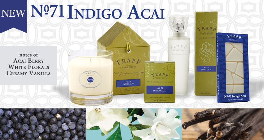 No. 71 Indigo Acai - with notes of Acai Berry, White Florals, Creamy Vanilla