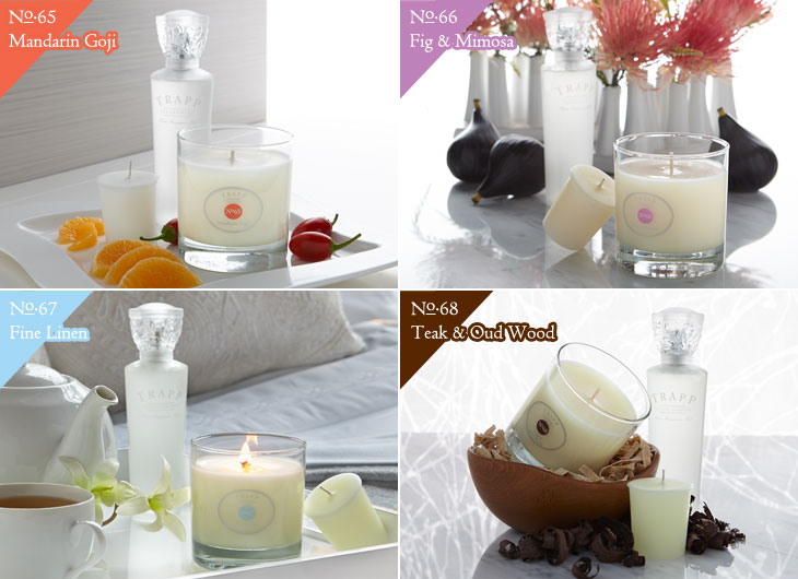 4 New Fragrances - Mandarin Goji, Fig & Mimosa, Fine Linen, Teak & Oud Wood
