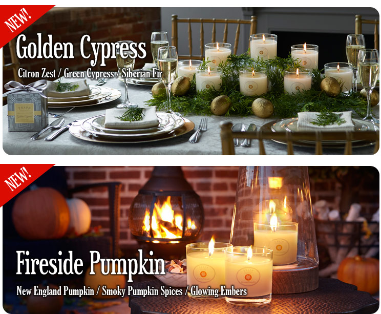 Seasonal Collection 2014 - Golden Cypress and Fireside Pumpkin